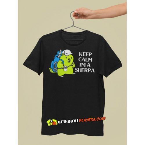 Keep Calm Im a Sherpa - Playera Caballero